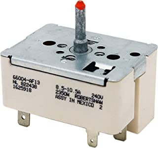 RobertShaw Infinite Switch for Stove Replaces GE 164D1816P02 King-Seeley 822438 Teledyne-Stillman 822140-0 Eaton 66004-13AF