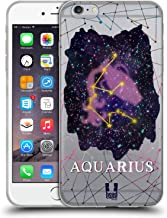 Head Case Designs Aquarius Zodiac Constellation Soft Gel Case Compatible for iPhone 6 Plus/iPhone 6s Plus