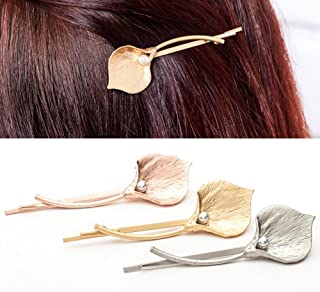 6 Pieces Calla lily Metal Hair Clip Clamps Bobby Pins Hairpin Headdress Accessories