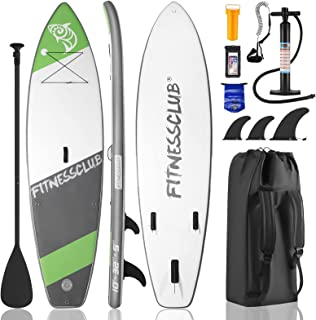 Sponsored Ad - Inflatable Stand Up Paddle Board,10'x32''x5'' Durable Lightweight Touring SUP Accessories, Wide Stance, Non...