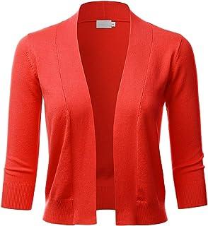 LALABEE 女式经典七分袖开襟开衫开衫 (S~XL)