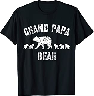 Vintage Grand Papa Bear with 5 Five Cubs Shirt Grandpa