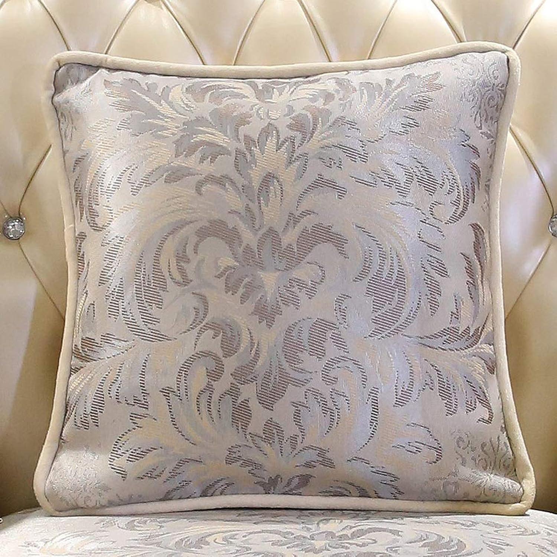 QYSZYG Cushion Office Lumbar Four Seasons Pillow Sofa Pillow with Core Jacquard Pillow Pillow (color   A, Size   46cm46cm)