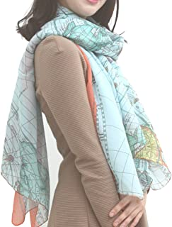 Best map print scarf Reviews