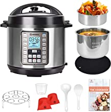 MOOSOO 9-in-1 Electric Pressure Cooker with LCD, 6QT Instant Programmable Pressure Pot, 15 One-Touch Programs with Deluxe ...