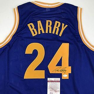 d51a759ca2ff Autographed Signed Rick Barry Golden State Blue Basketball Jersey JSA COA