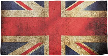 Old Glory British Flag Union Jack Grunge Distressed All Over Beach Towel Multi Standard One Size