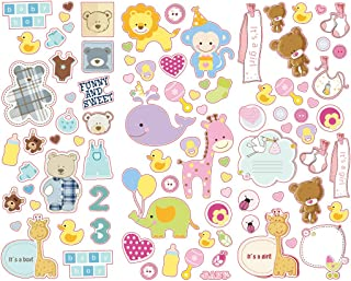 Polaroid Colorful & Decorative Baby Stickers for Zink 2x3 Photo Paper Projects (Snap, Zip, Z2300) - 3 Unique Sheets