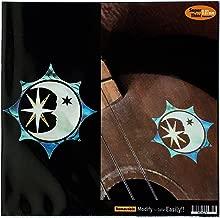 Sun, Moon and Star Symbol Inlay Sticker Decal