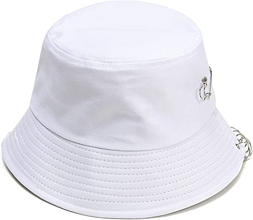 wholesale Bucket Hat with Rings, Outdoor Fisherman Cap lowest for Teens,Sun Protection Hat lowest with Iron Rings, Traveling Beach Bucket Hat outlet sale