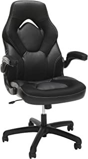 OFM Racing Style Bonded Leather Gaming Chair, in Black (ESS-3085-BLK) (Renewed)