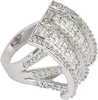 For Women, Cubic Zirconia Fashion Ring, alloy - 6