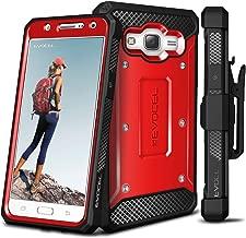 Galaxy J7 (2015) Case, Evocel [Explorer Series] Premium Full Body Case with Rugged Belt Clip Holster for Samsung Galaxy J7 (J700), Red (EVO-SAMJ7-ZZ03)