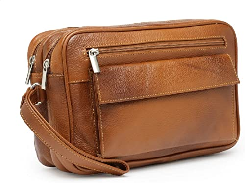 Teakwood Genuine Leather Cash Pouch Money Carrying Pouch Handbags Multipurpose Travel Pouch