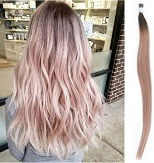 4 X I Tips Hair Extensions Pre-Bonded Stick Tips Human Hair pink Silky Straight 100g For Makeup Beauty Support Customization Professional Salon by CANREACH HAIR