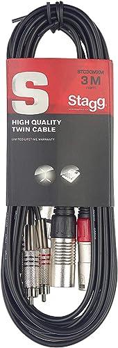 Stagg STC3CMXM Câble audio RCAM-XLRF 3 m Noir