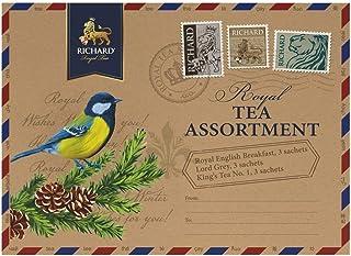 RICHARD Royal black tea assortment, 9 sachets 18g/0.63oz (Titmouse bird)