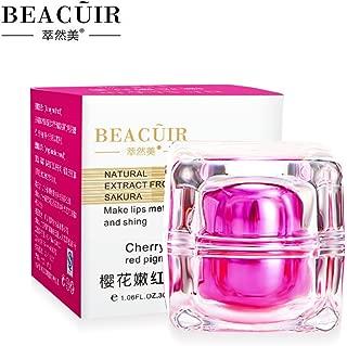 BEACUIR Natural Extract From Sakura Lips Cherry Mette Red Pigment Whitening Cream Pink 30g