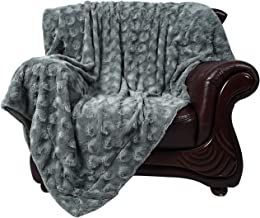 Faux Fur Throw Blanket Super Soft Fuzzy Luxurious Warm Fluffy Plush Rose Decorative Fleece Blanket for Bed Couch Chair, Grey Rose, 60