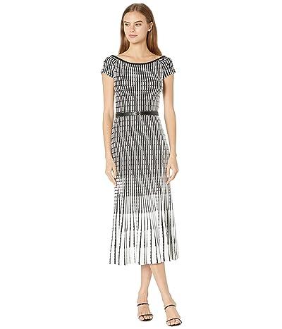 Ted Baker Julii Bardot Stripe Knitted Midi Dress Women