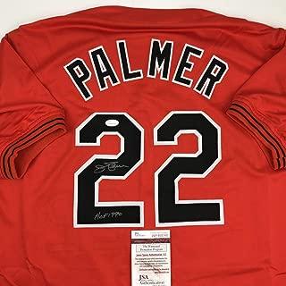 Autographed/Signed Jim Palmer HOF 1990 Baltimore Orange Baseball Jersey JSA COA
