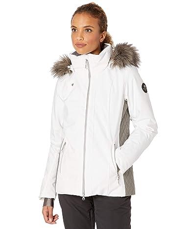Obermeyer Siren Jacket w/ Faux Fur (White) Women