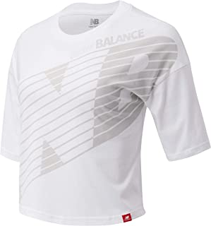 New Balance Women Essentials Nb Speed Graphic Tee Top Lifestyle White Xs