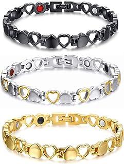Fuqimanman2020 3 قطع أنيقة الجوف تصميم القلب أساور مجموعة العصرية الحب القلب المعادن أساور للنساء الفتيات مجوهرات