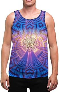 ZeroPoint | Mens | Tank Top | Spiritual | Aesthetic | Clothing | Tanks | Rave | Psychedelic | Festival | Sacred Geometry | Cosmic