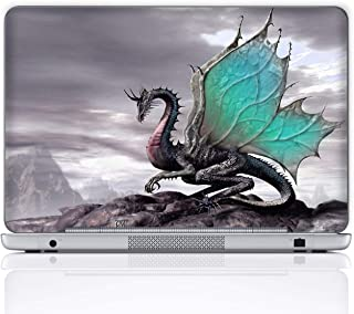 Meffort Inc 15 15.6 Inch Laptop Notebook Skin Sticker Cover Art Decal (Included 2 Wrist pad) - Flying Dragon