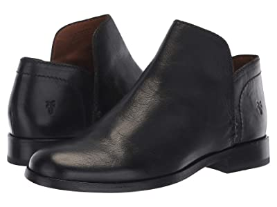 Frye Elyssa Shootie (Black Waxed Goat) Women