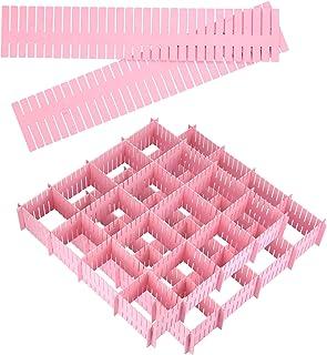 juehu 20 pcs Diviseurs de Tiroirs DIY Organisateur de Tiroir Séparateur de tiroir Réglable grille tiroir diviseurs Plastiq...