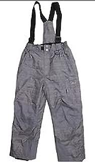 Weatherproof 32 Degrees Boys Winter Snow Bib Pant (X-Small 5/6,Charcoal Grey)