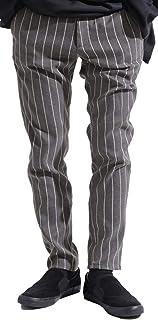 バレッタ ストライプ ストレッチ テーパード ワイド パンツ イージーパンツ ストリートモード メンズ