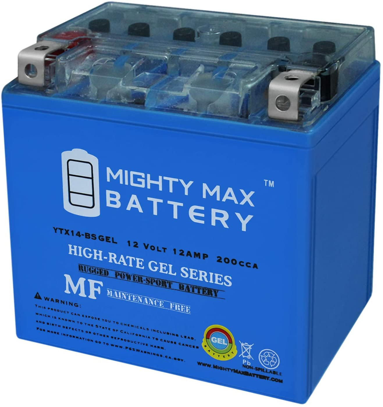 Mighty Brand Cheap Sale Venue Max Battery YTX14-BS Gel Moto Guzzi V7 Replaces Very popular