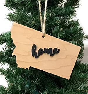 Montana State Ornament Keepsake Decoration Holiday Gift Home Ornie Party Favor