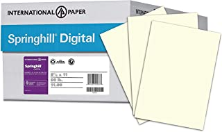 Springhill Colored Paper, Cardstock Paper, Cream Paper, 67lb, 147gsm, Letter 8.5x11,8 Reams /2,000 Sheets - Vellum Card Stock, Thick Paper (097000C)
