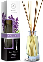Reed Diffuser with Natural Essential Oil Lavender 3.4 oz (100ml) - Scented Reed Diffuser - Non Alcohol - Gift Set with Bamboo Sticks - Best for Aromatherapy - SPA - Home - Office - Fitness Club