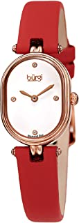 Burgi Womens Quartz Watch, Analog Display and Leather Strap BUR229RD