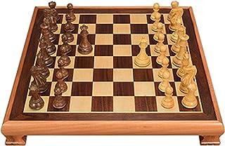 Echecs Jeu, Jeu D'échecs en Bois, Méticuleusement Sculpté, Le Bas De La Pièce D'échecs Est Planté De Cuir, Qui Est Stable ...