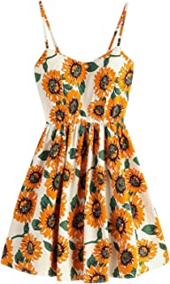 boho sunflower dress