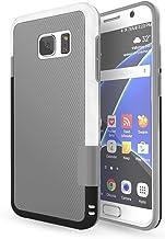 HanLuckyStars Funda Galaxy S7 [Ultra Hybrid] Funda Carcasa Case TPU Matte Shell Exact Bumper Tope Shock Protección Gota Choque Absorción Borrar Espalda para Samsung Galaxy S7 (Gris Claro)