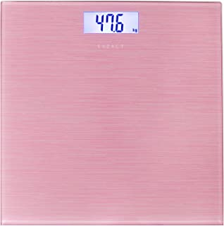 Exzact Digital Bathroom Scale/Electronic Weighing Scale - Large Capacity 180kg / 400lb /28st - High Precision, Step-on, Ba...