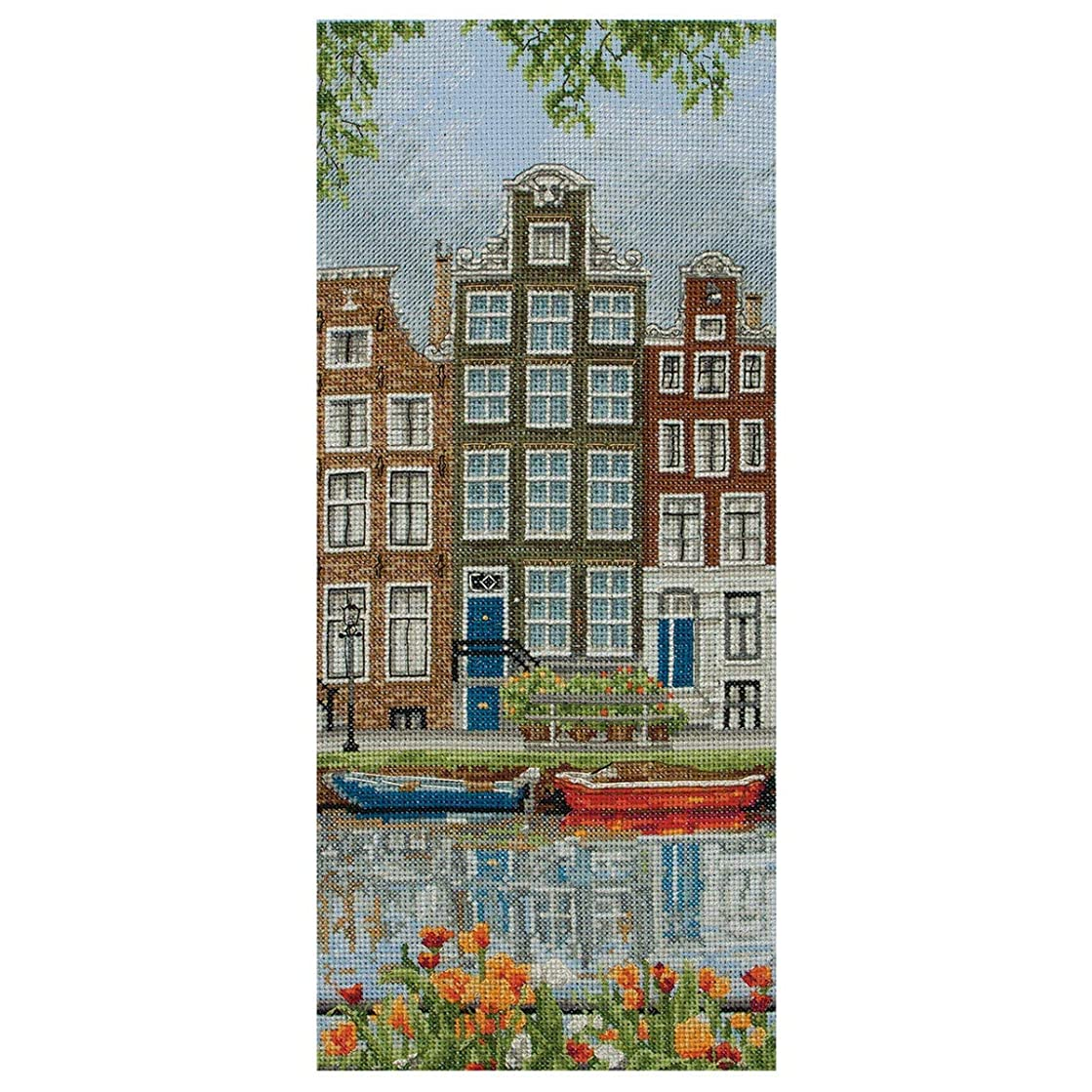 Anchor Amsterdam Street Scene Cross Stitch Kit