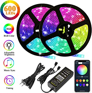 Autai LED Strip Lights 32.8ft(10m),RGB 2835 600leds Color Changing Lights with Smart Bluetooth Led Strip Lights Sync to Music and for Home Lighting and TV, Kitchen, Bedroom, Party Lights Home Decorat