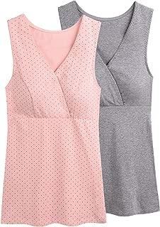 Women Maternity Nursing Tank Top Camisole Sleep Bra for Breastfeeding