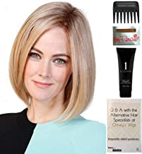 Bundle - 5 items: Lady Latte Monofilament Wig by Belle Tress, Christy's Wigs Q & A Booklet, 2oz Travel Size Wig Shampoo, Wig Cap & Wide Tooth Comb - Color: Butterbeer Blonde
