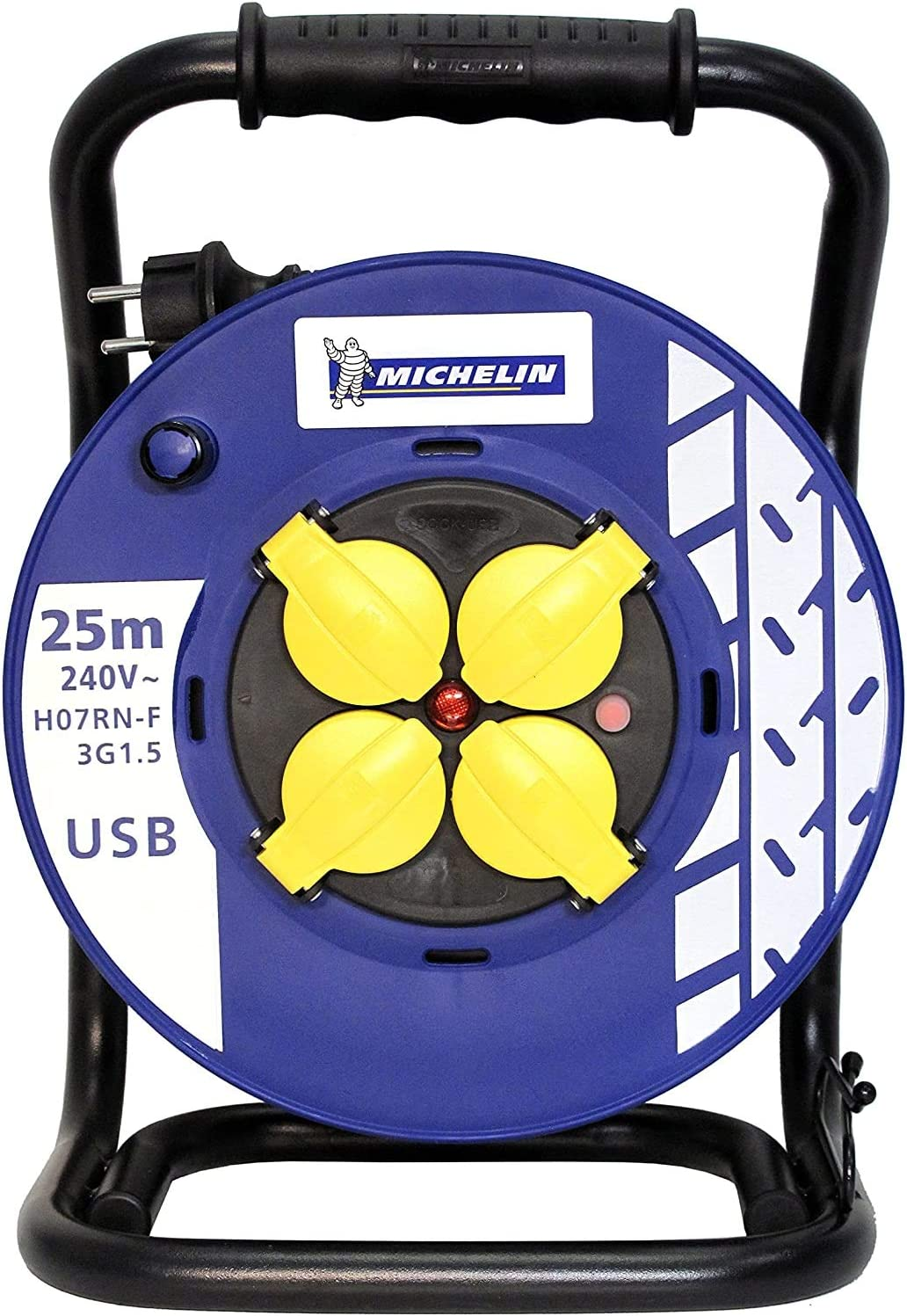 Enrouleur électrique PRO&GARAGE Michelin H07RN-F 3G1,5 mm² – Enrouleur manuel..