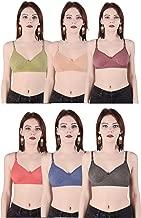 Costafrey Women's Non-Padded Bra Pack of 6 (Multi- Color)