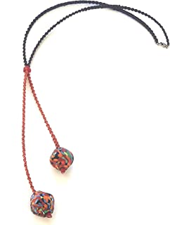 Ethnos Barcelona - Collana lunga di perle di vetro.